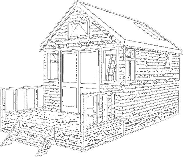 640x550 Beach Hut Builder