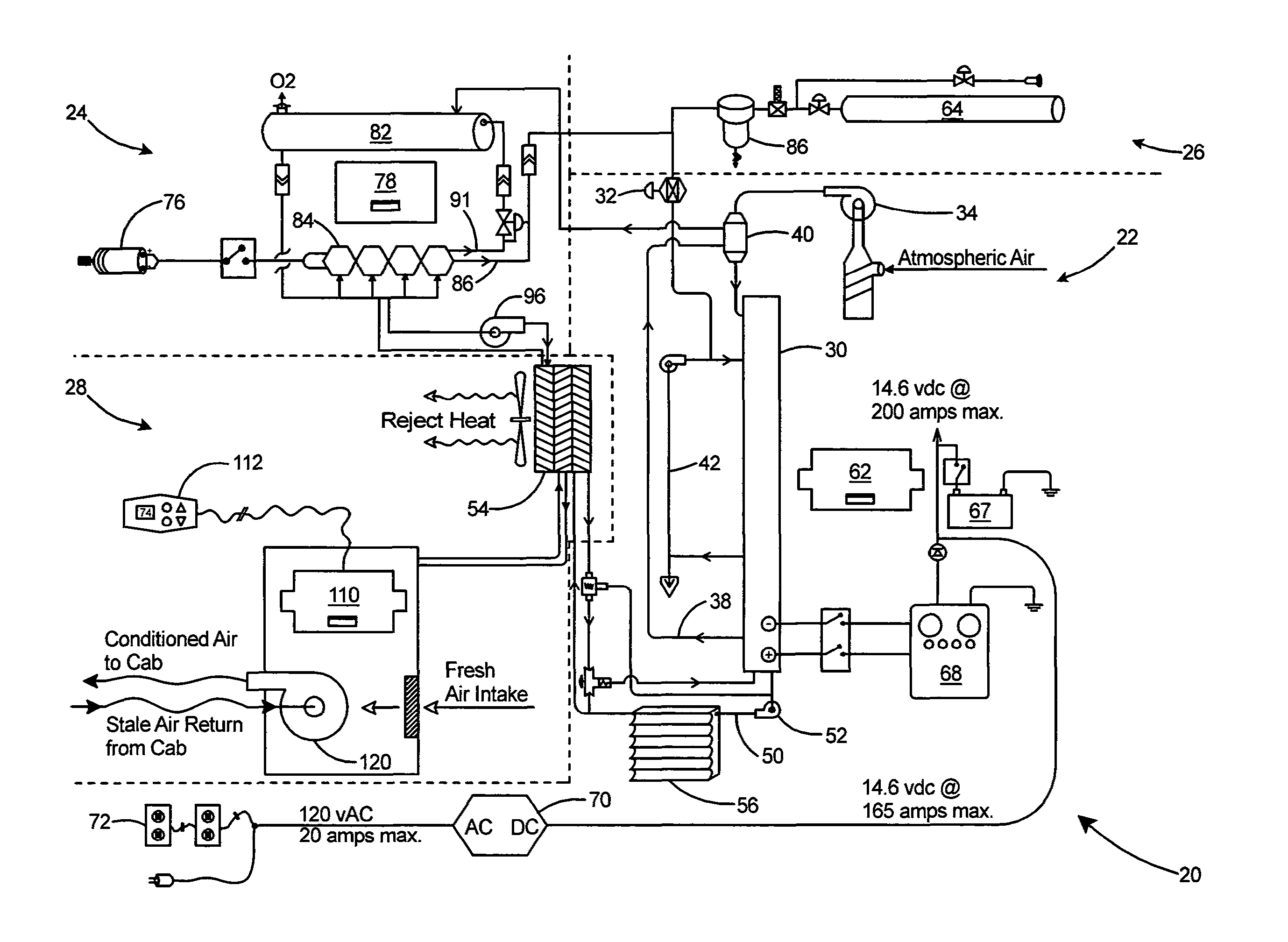 2758x2017 Patent Us20110256463 Parallel Fuel Cell Stack Architecture Drawing