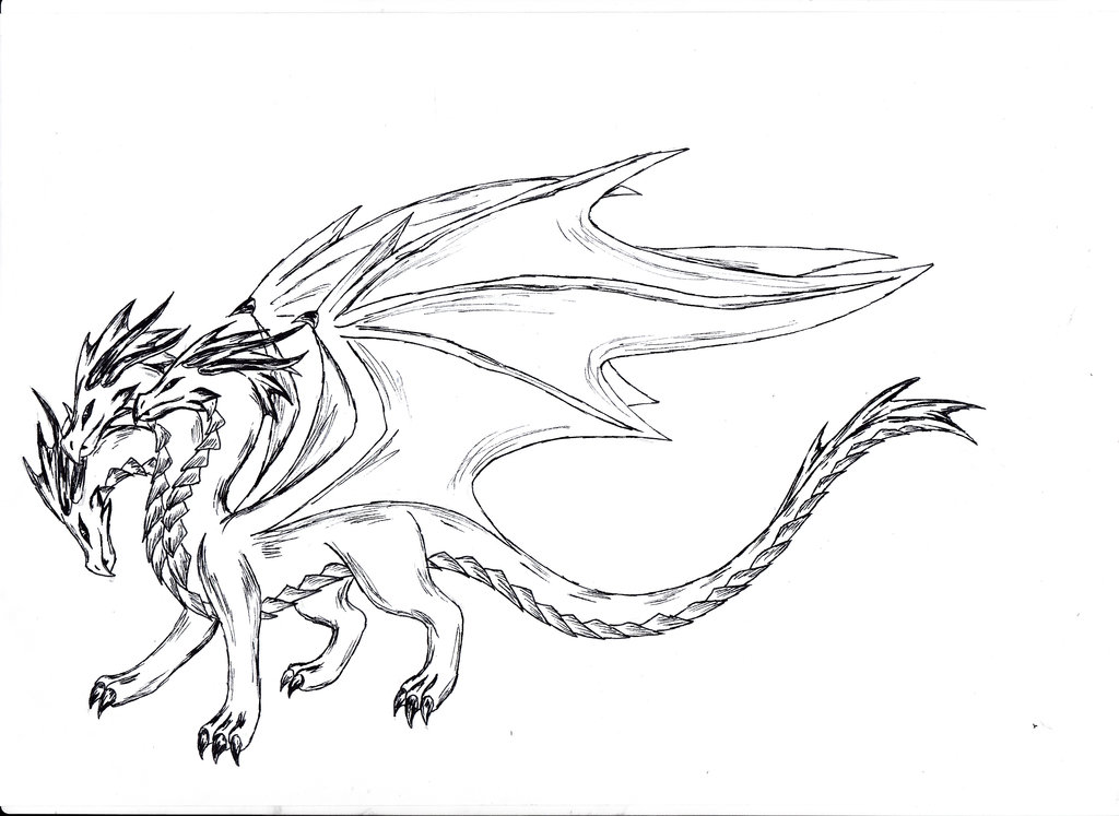 1024x747 Image Result For Pics Of Dragons To Draw With Three Heads