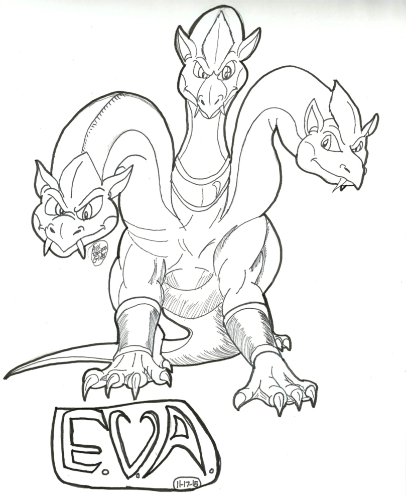 809x988 Eva The 3 Headed Hydra By Alexraccoonglider