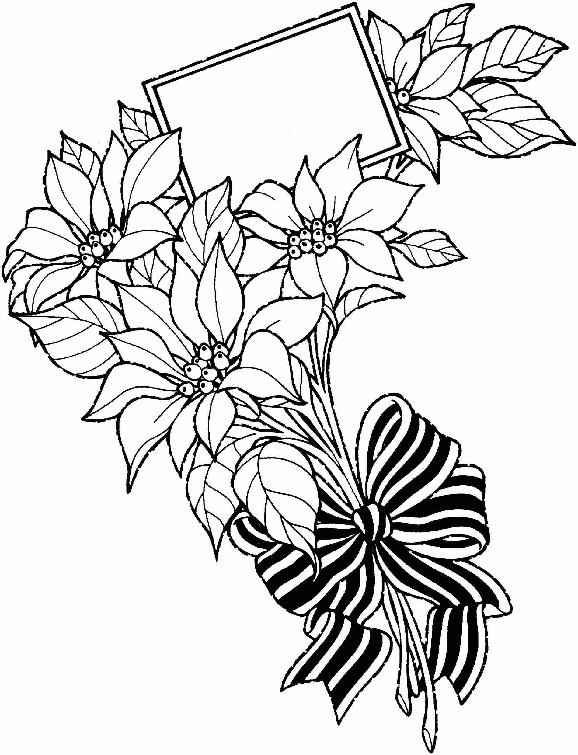 1900x2482 Drawing Bouquet Coloring Pages Inside Tumblr Flower Bunch