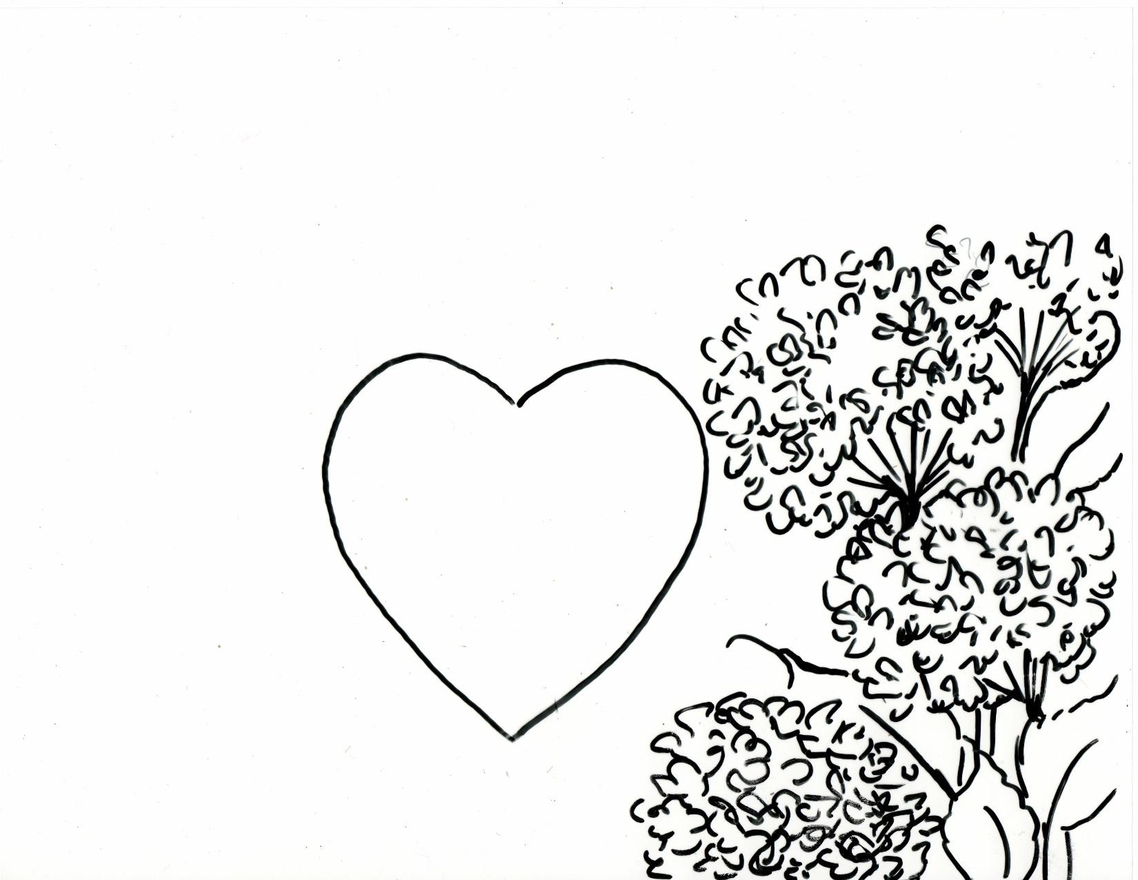 1650x1275 Hydrangea Heart Frame