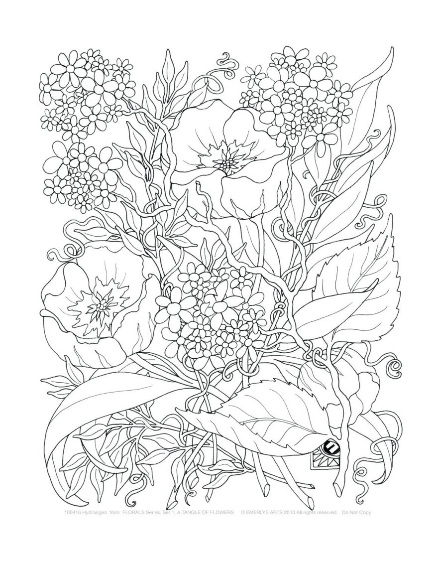 878x1136 Adult Coloring Throughout Free Printable Flower Pages For Adults