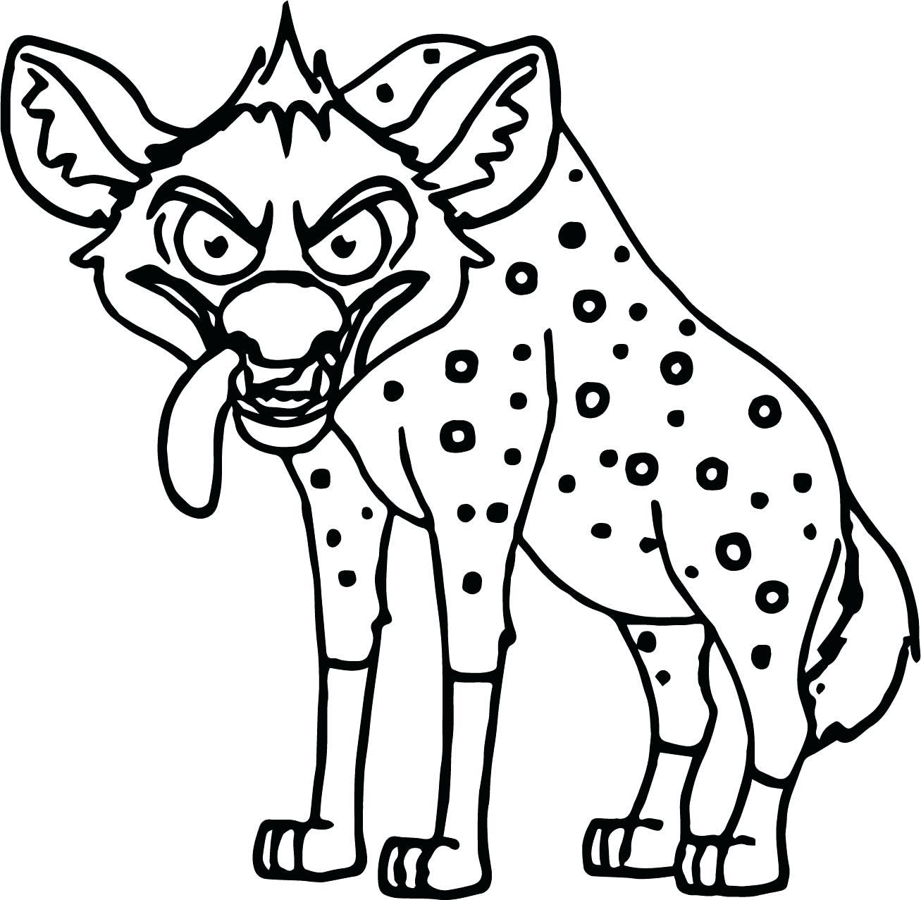 1307x1277 Hyena Coloring Mask
