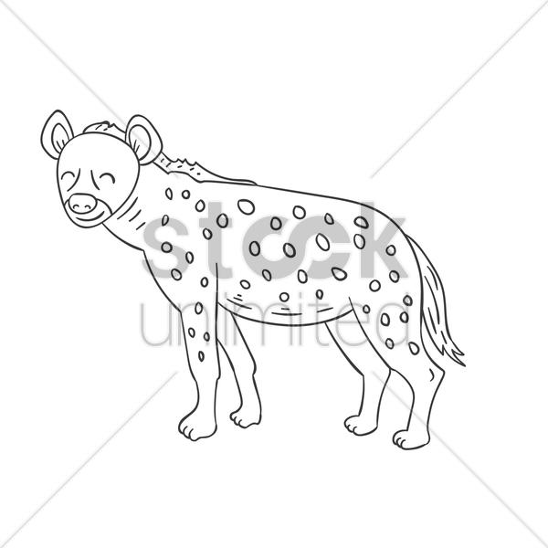 600x600 Hyena Vector Image