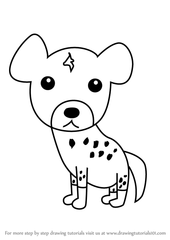 567x800 Learn How To Draw A Hyena For Kids (Animals For Kids) Step By Step