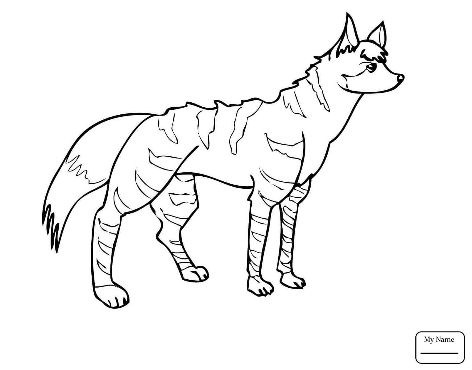 1530x1200 Realistic Spotted Hyena Mammals Hyenas Coloring Pages For Kids