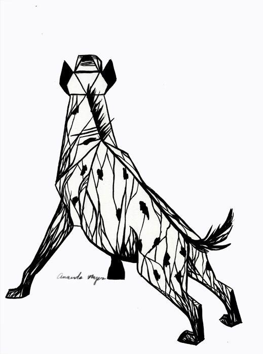 519x700 Geometric Hyena