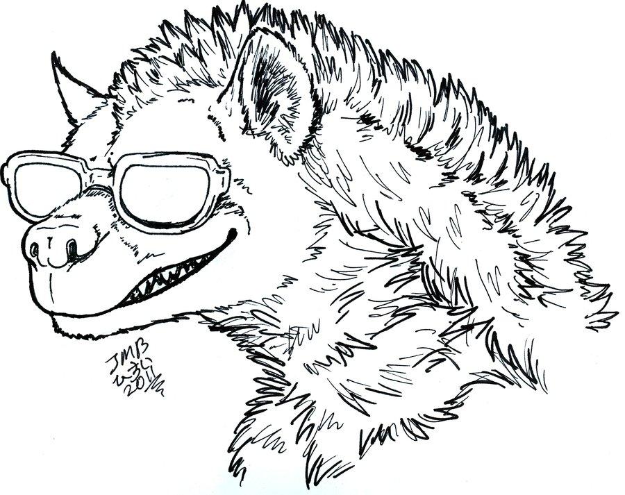 900x713 Cool Hyena By Hisui Hyena
