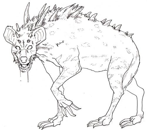 500x442 Drawn Hyena Monster