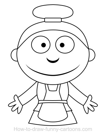 347x445 Drawing A Maid Cartoon