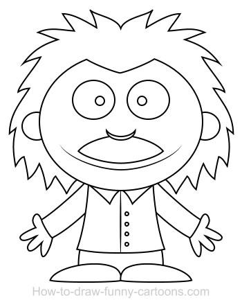 350x443 Drawing A Scientist Cartoon