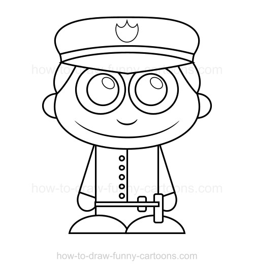 500x534 How To Draw A Policeman
