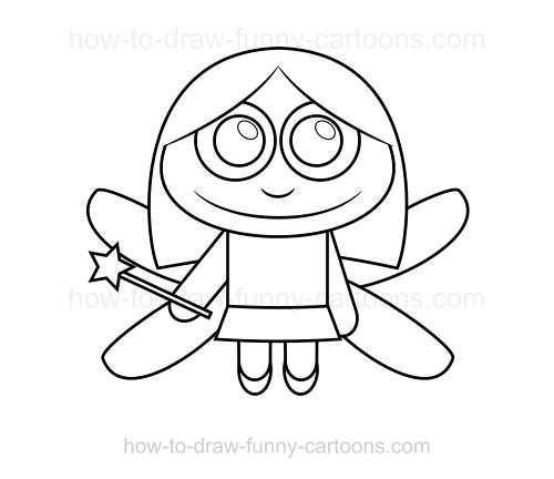500x432 To Draw A Fairy