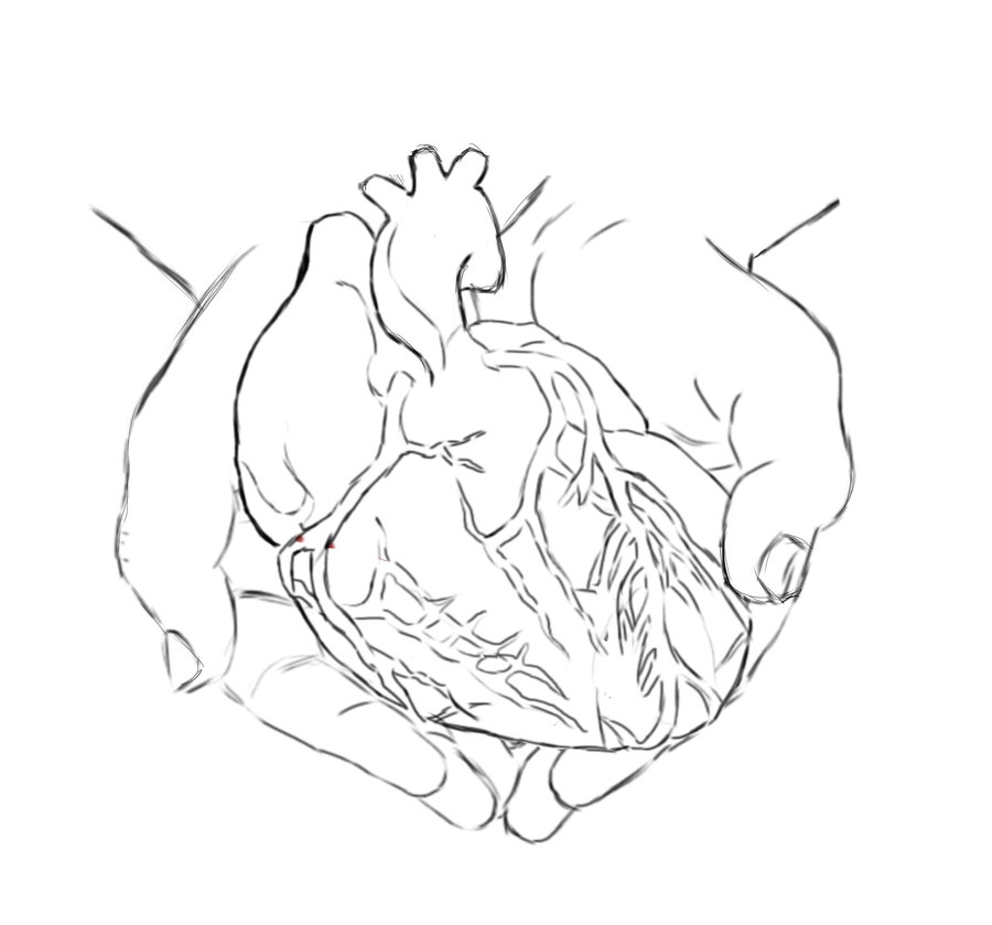 900x839 I'Ll Give You My Heart.lineart By Lyrasan