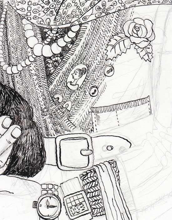 550x701 Drawing Masha