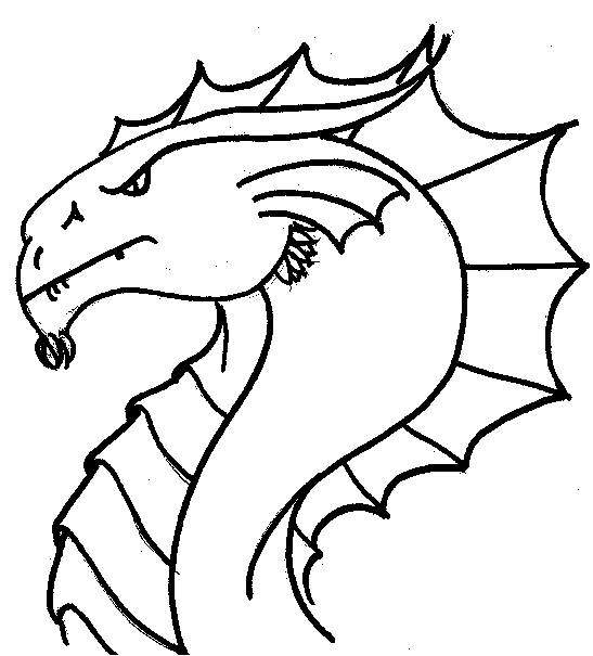 547x605 Chic Ideas Coloring Pages Draw A Simple Dragon Side View Of Head I