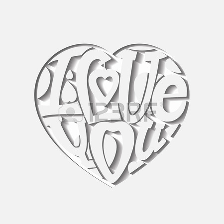450x450 Design Lettering I Love You. Hand Drawing, An Individual Font