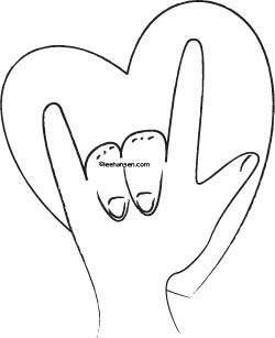 I Love You Sign Language Drawing