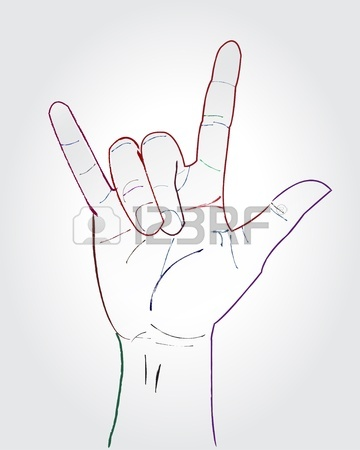 360x450 I Love You Hand Symbolic Gestures Royalty Free Cliparts, Vectors