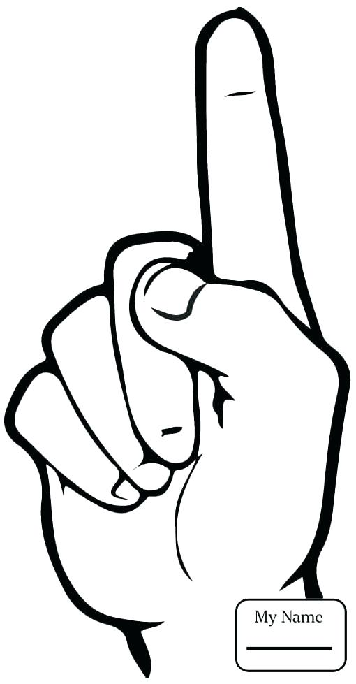 510x979 Asl Coloring Pages I Love You In Sign Language Coloring Page Free