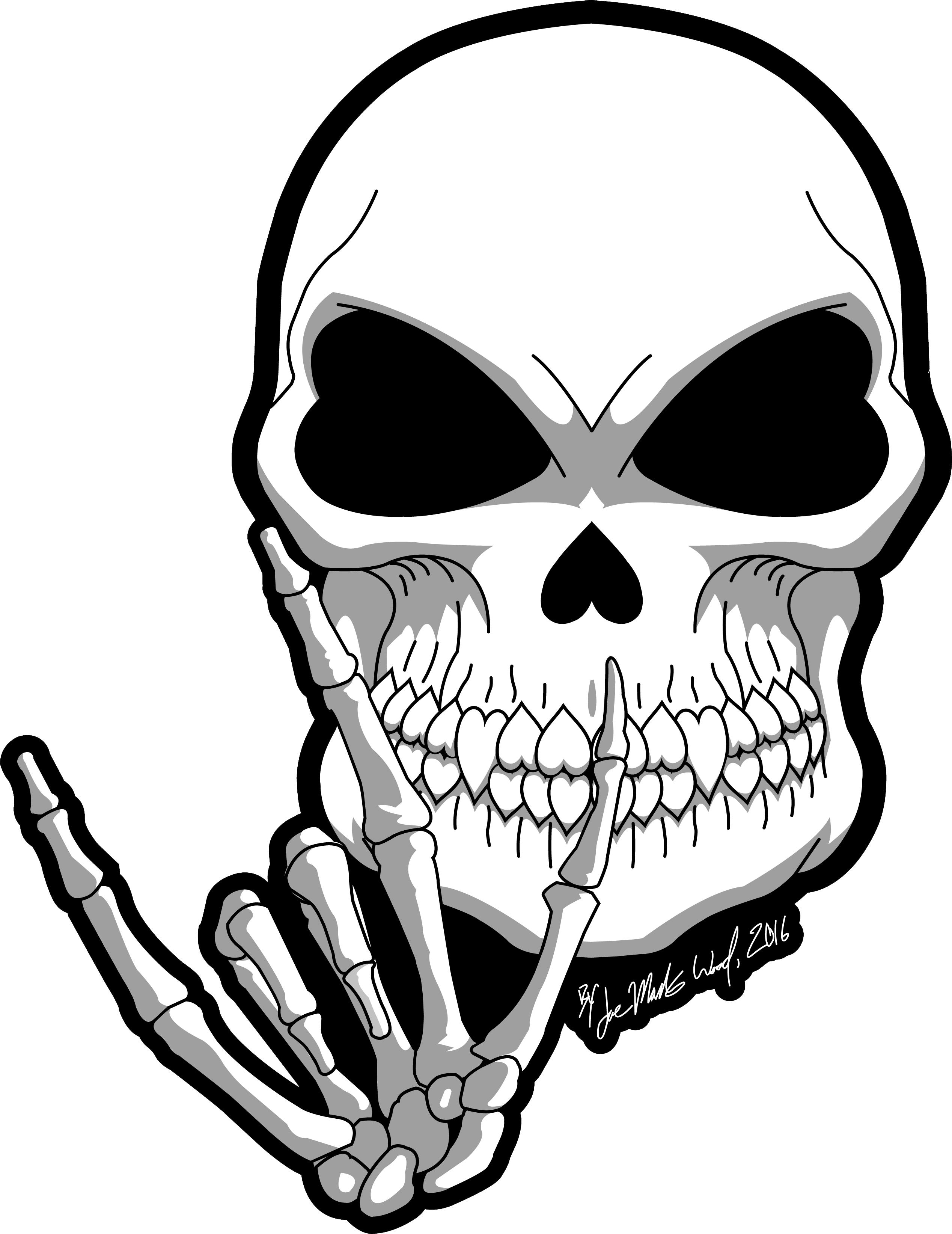 2536x3286 Deaf Skull's Hand Sign Language Mean