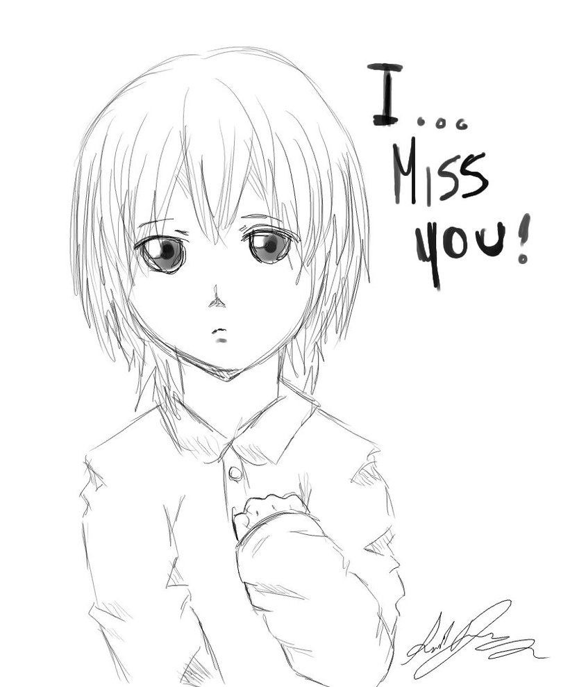 808x989 I Miss You By Aquaartist