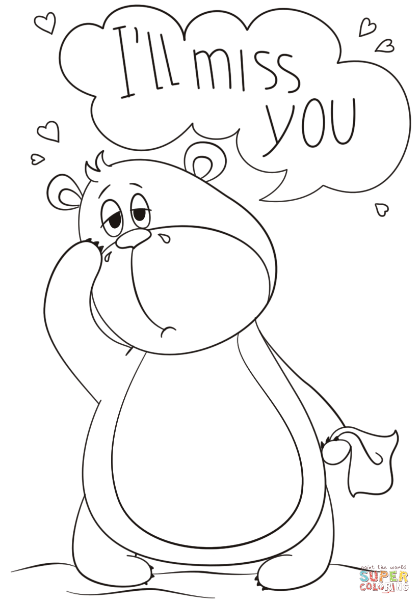 824x1186 Ill Miss You Coloring Page Free Printable Coloring Pages