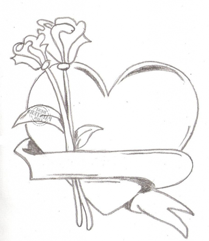 892x1024 Pencil Drawings Of Love Hearts I Miss You Drawing Heart