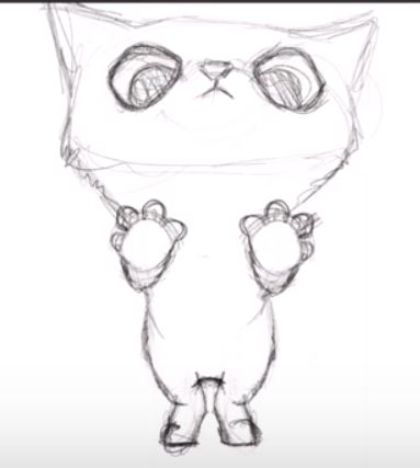 383x427 How To Draw Amp Paint A Cat In Procreate Igor Cheban Free Image