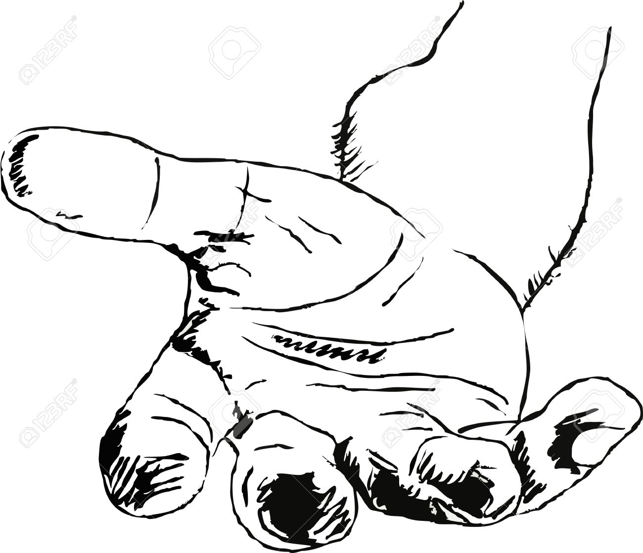 1300x1118 Line Drawing Of A Hand Gesture Offering Help And Assistance Stock