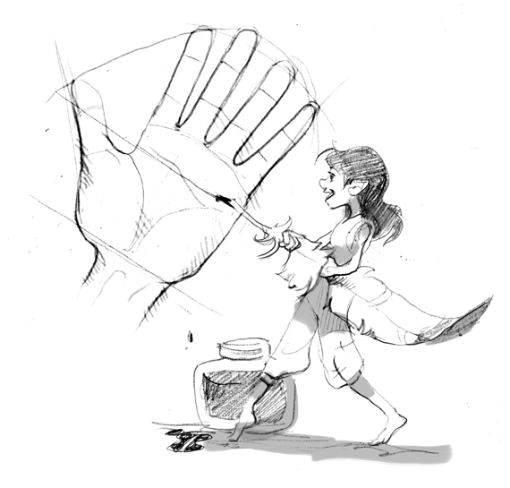 570x545 To Draw Small Hands The Story Elves
