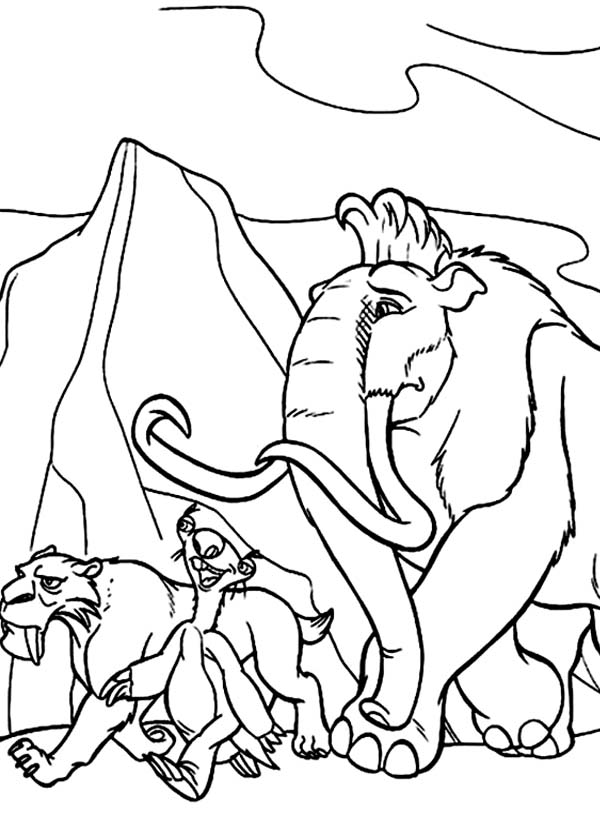 600x840 How To Draw The Animals Of The Ice Age Coloring Pages Batch Coloring