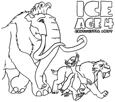 377x336 Ice Age Coloring Pages For Kids Tags Ice Age Coloring Page How