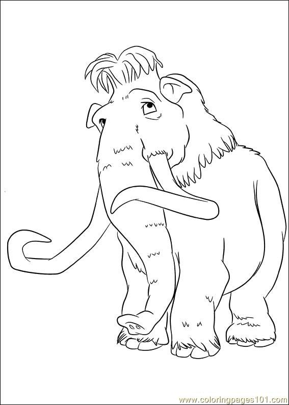 567x794 Ice Age Continental Drift 12 Coloring Page