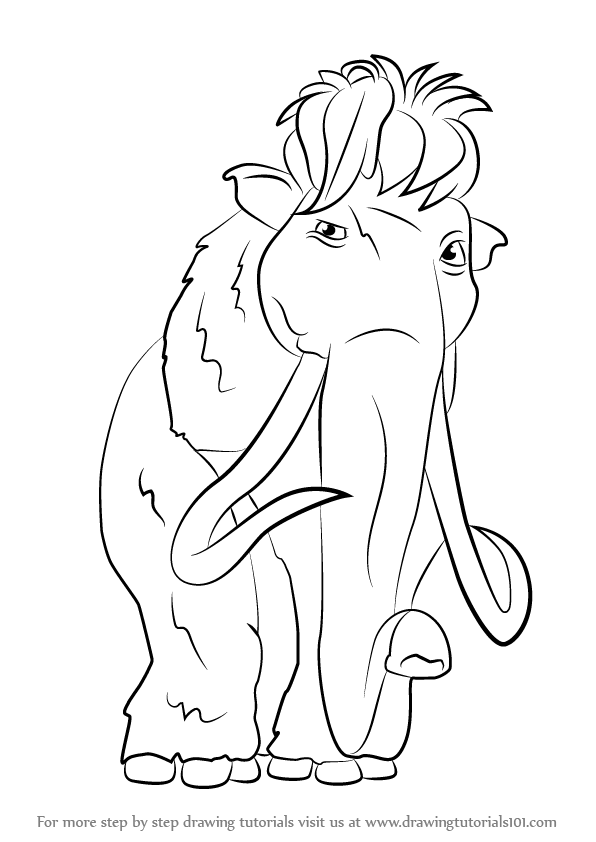 596x842 Learn How To Draw Ellie From Ice Age (Ice Age) Step By Step