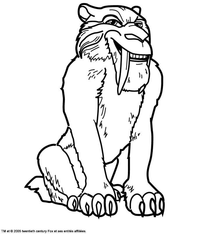 700x800 Coloring Pages Ice Age