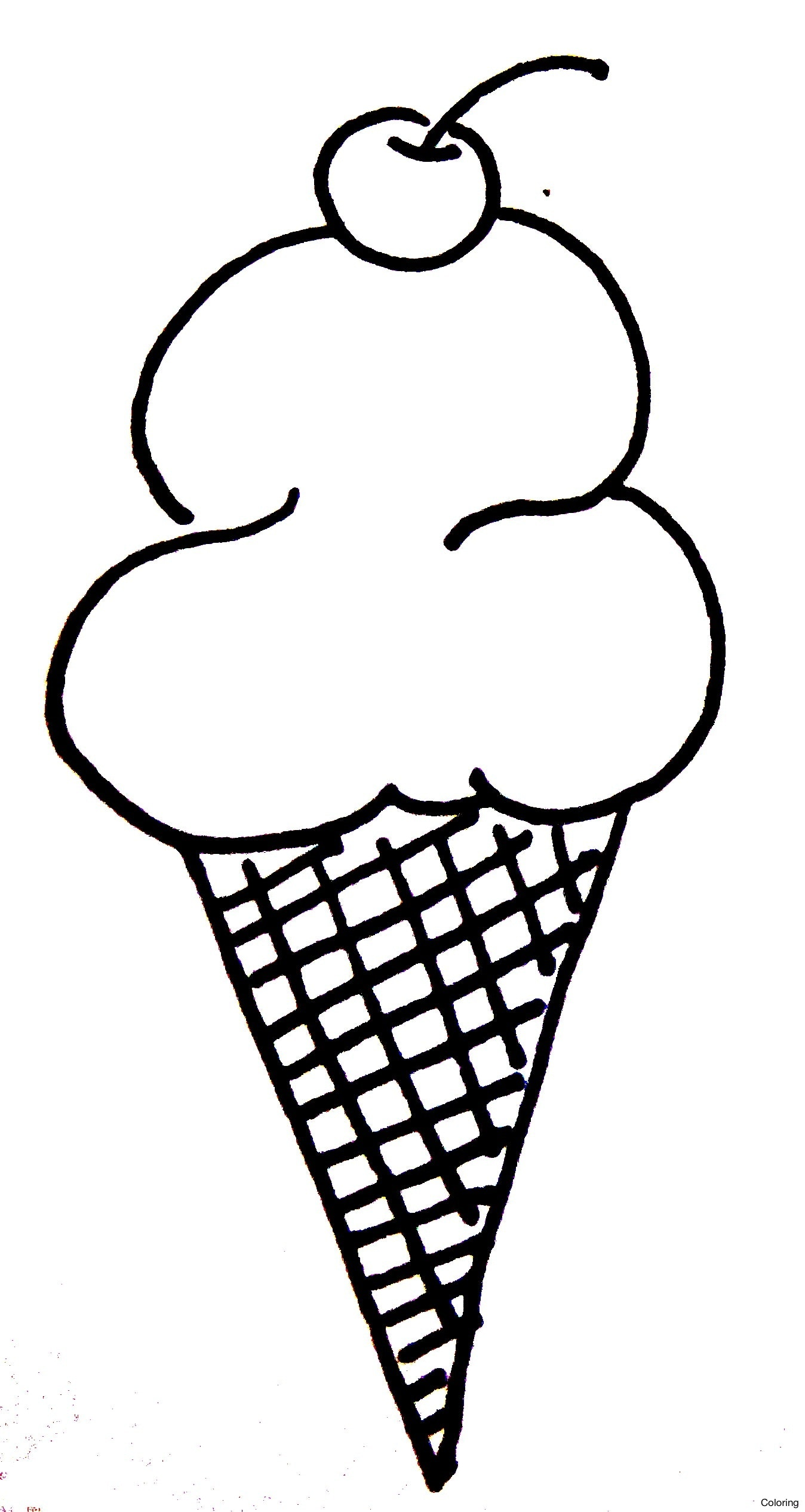 Ice Cream Cone Drawing At GetDrawings