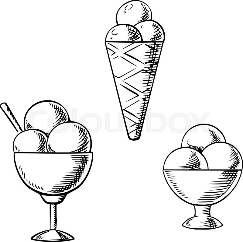 800x795 Delicious Sweet Ice Cream Cone With Sugar Waffle And Sundae