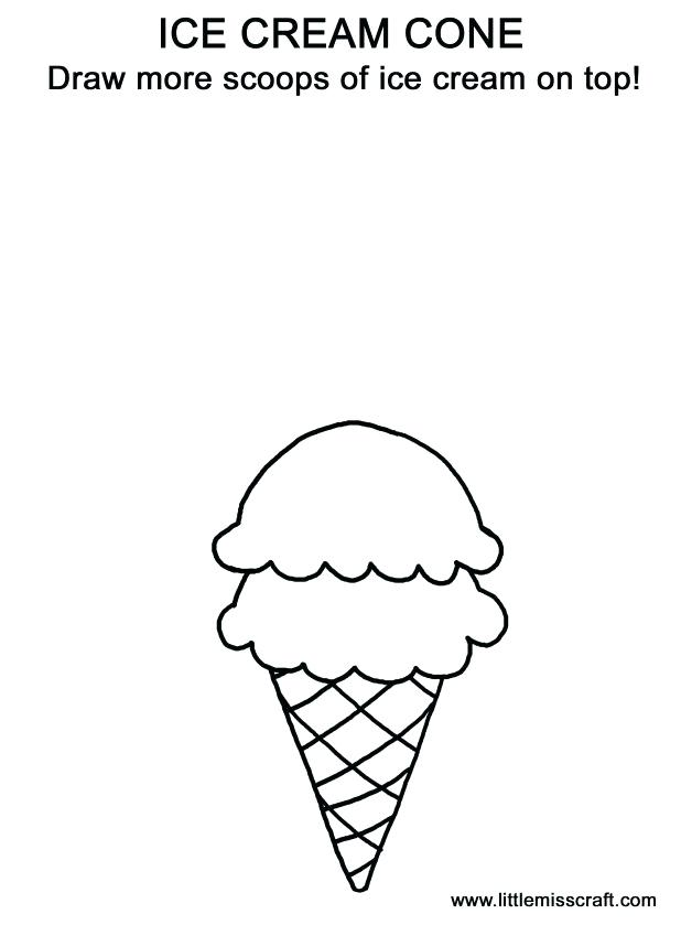 618x839 Ice Cream Cone Coloring Picture Strawberry Coloring Page Ice Cream
