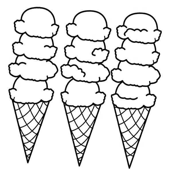600x608 Perfect Coloring Pages Ice Cream Print Cone Page Drawing Board