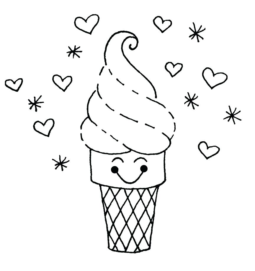 photo regarding Ice Cream Cone Template Free Printable known as Ice Product Cone Drawing at  Free of charge for