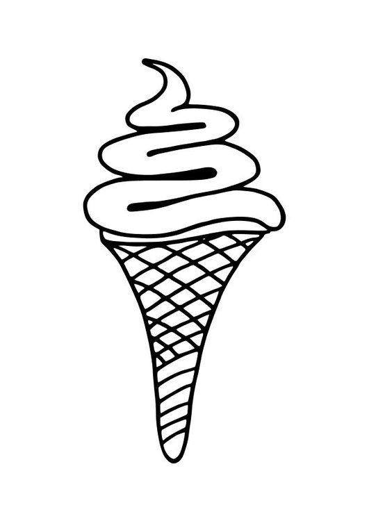 531x750 Coloring Page Soft Ice Cream Cone