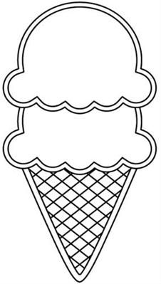 Ice Cream Cone Line Drawing