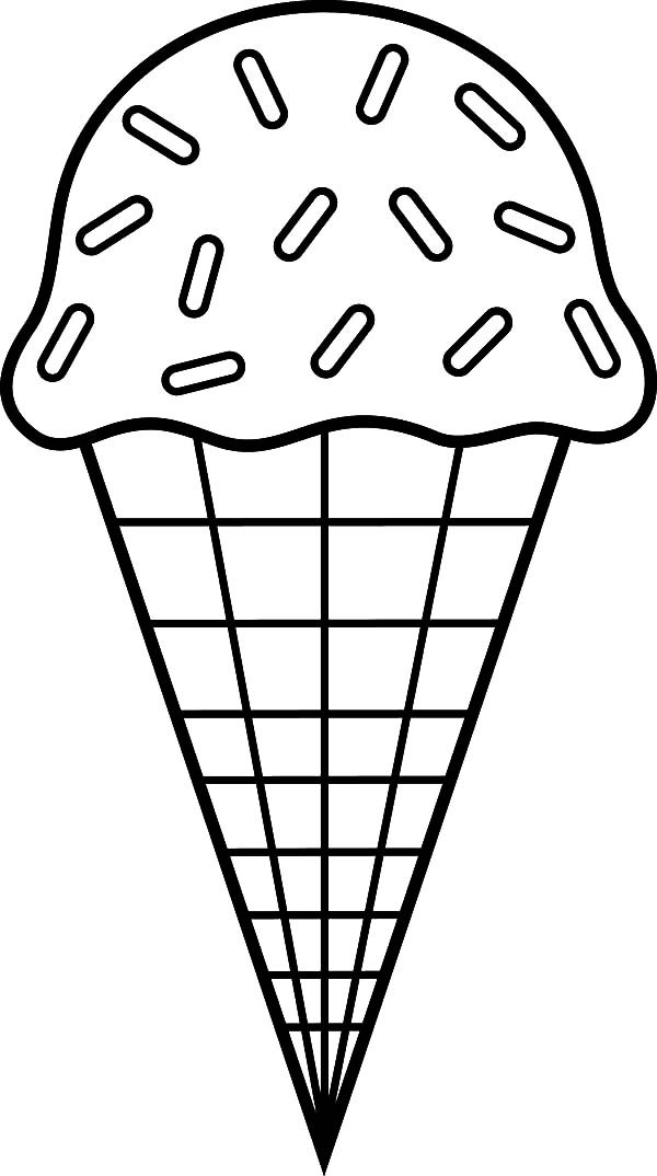 600x1074 ice cream cone chocolate sprinkles coloring pages bulk color - Coloring Page Ice Cream Cone