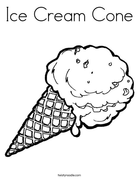 468x605 Ice Cream Cone Coloring Page
