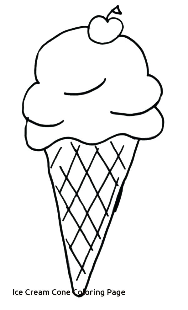 Ice Cream Cone Line Drawing at GetDrawingscom Free for personal