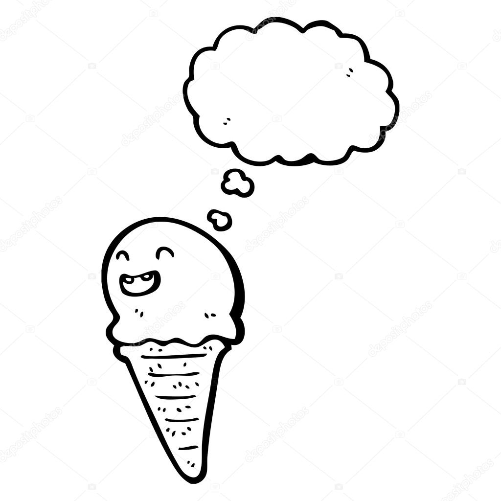 1024x1024 Ice Cream Cone Stock Vector Lineartestpilot