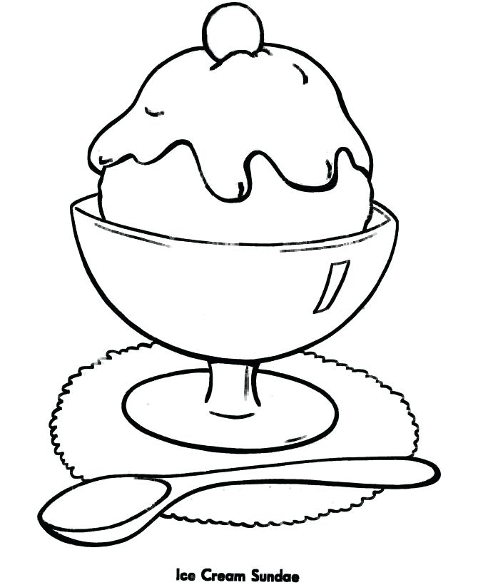 670x820 Easy Coloring Pages For Coloring Pages For Girls Ice Cream Easy