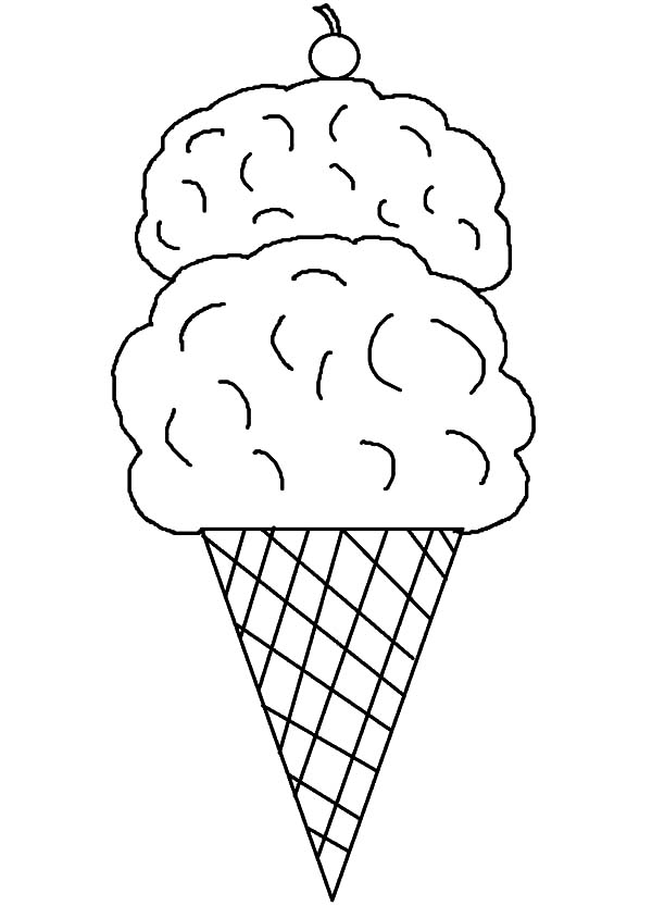 600x833 How To Draw Ice Cream Cone Coloring Pages Bulk Color